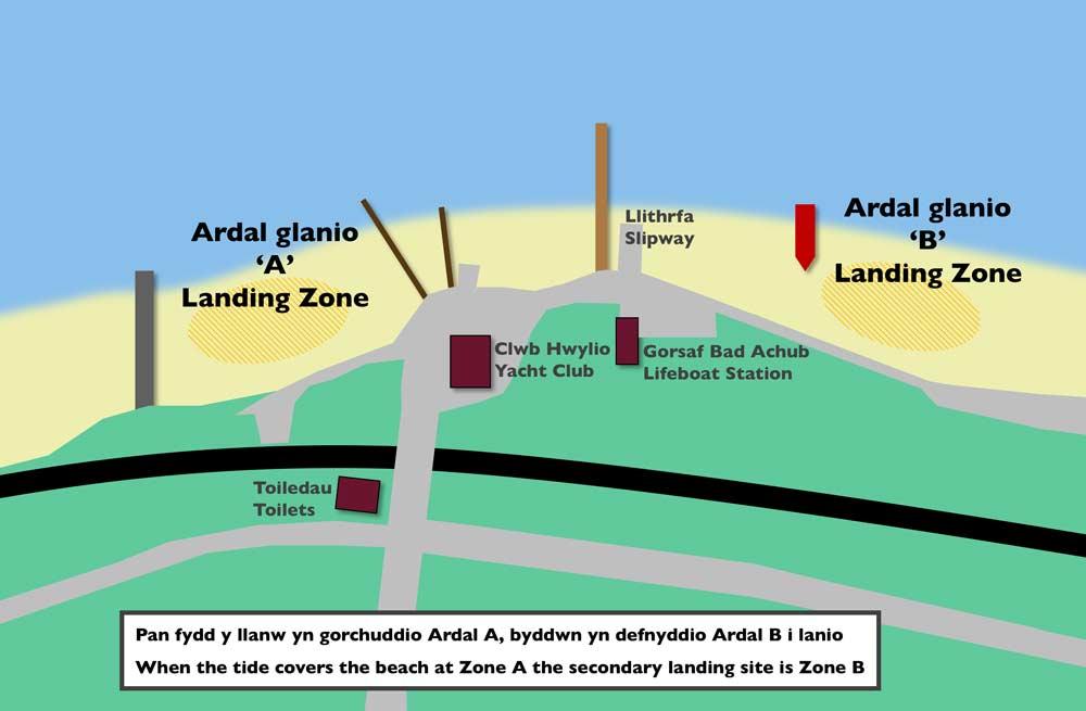 Ferryside Landing Zones
